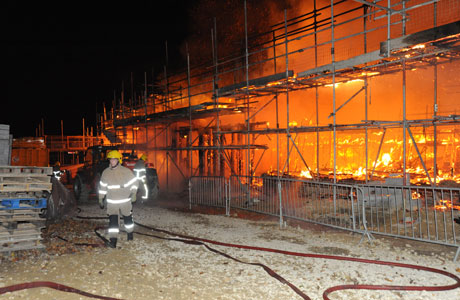 Building Site Fire