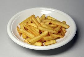 An example of what the chip shop use what they think is good health and safety to be able to put the chips in.